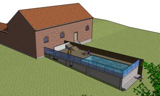 Geel - architect herman boonen - modern poolhouse