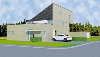 moderne architectuur voor praktijkwoning
