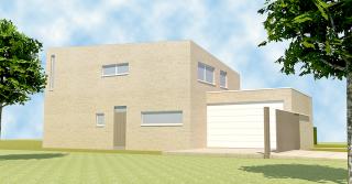 sobere, moderne architectuur Mol - architect Boonen