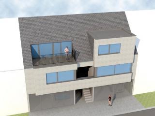 moderne architectuur voor duplexen te Balen