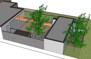 buitenkeuken in gekleurde beton, modern, Boonen Geel