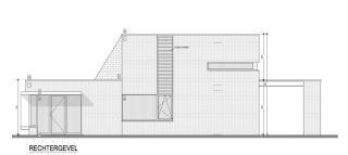 verlijmd metselwerk, houten ramen, modernistische architectuur