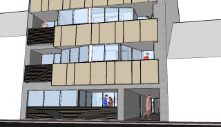 strakke architectuur, studenten-studio's
