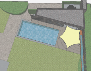 eigentijds poolhouse architect geel