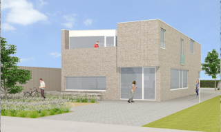moderne broodjeszak, compacte architectuur