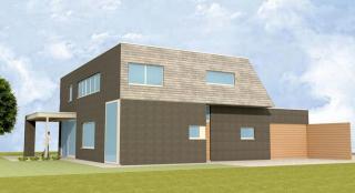 strakke architectuur, compacte woning, budgetvriendelijk